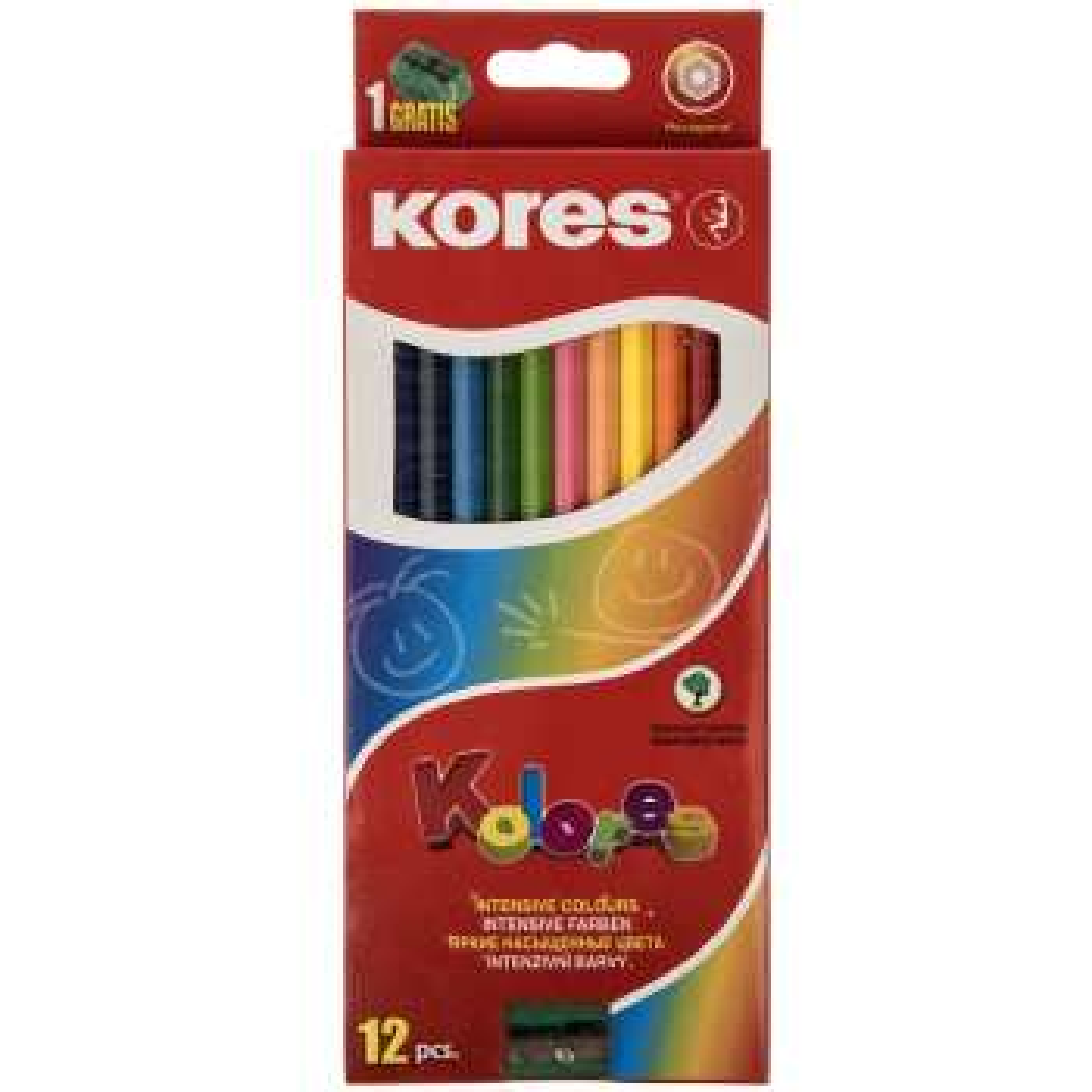 مداد رنگی 12 رنگ کورس مدل Kolores
