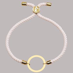 دستبند طلا 18 عیار دخترانه کرابو طرح دایره مدل Krd1599