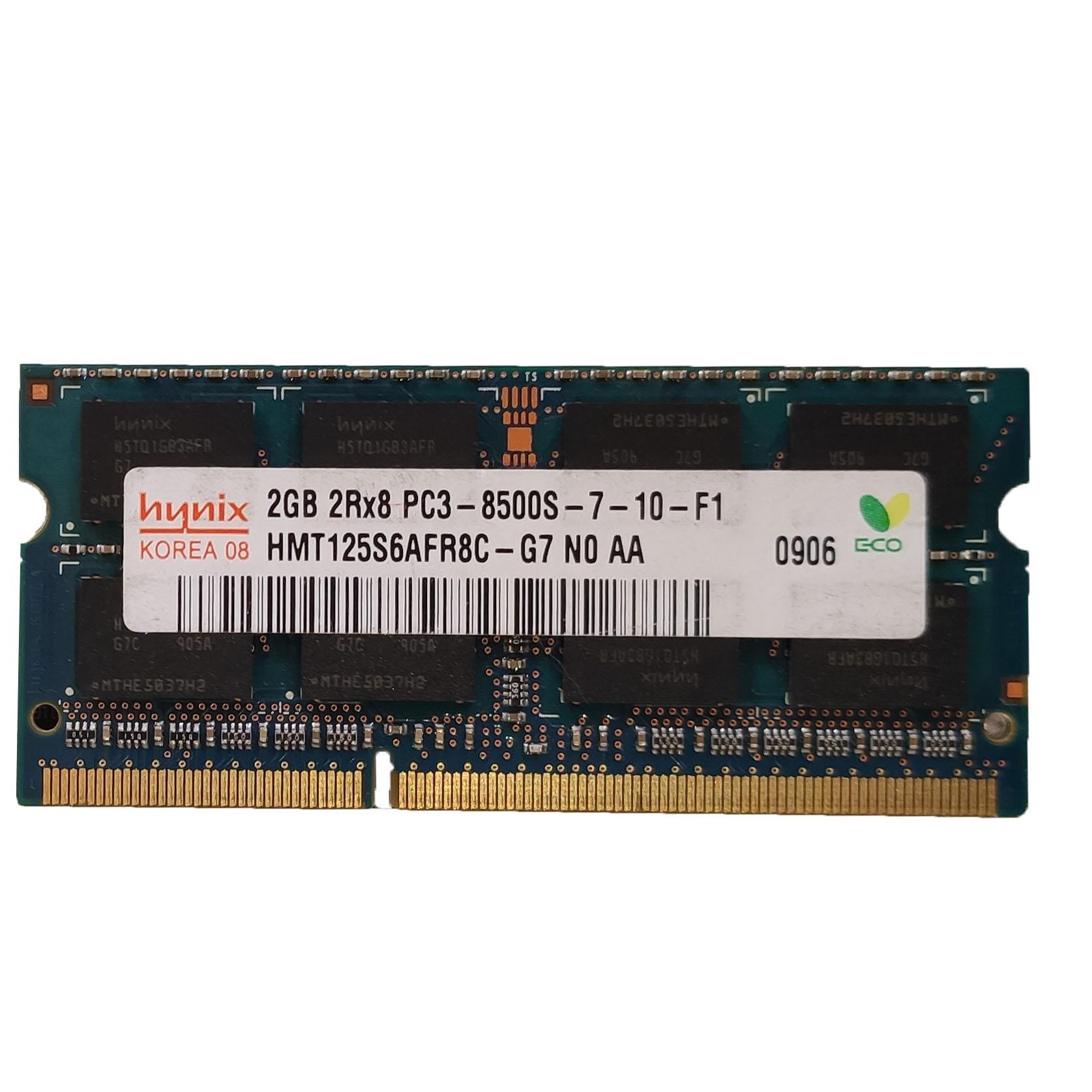 رم لپتاپ DDR3 تک کاناله 1066 مگاهرتز CL8 هاینیکس مدل 8500s ظرفیت 2 گیگابایت