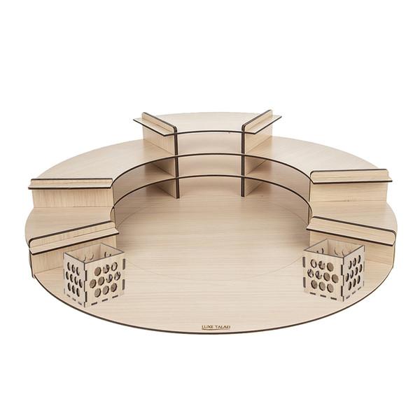 استند هفت سین لوکس طلائی مدل 02