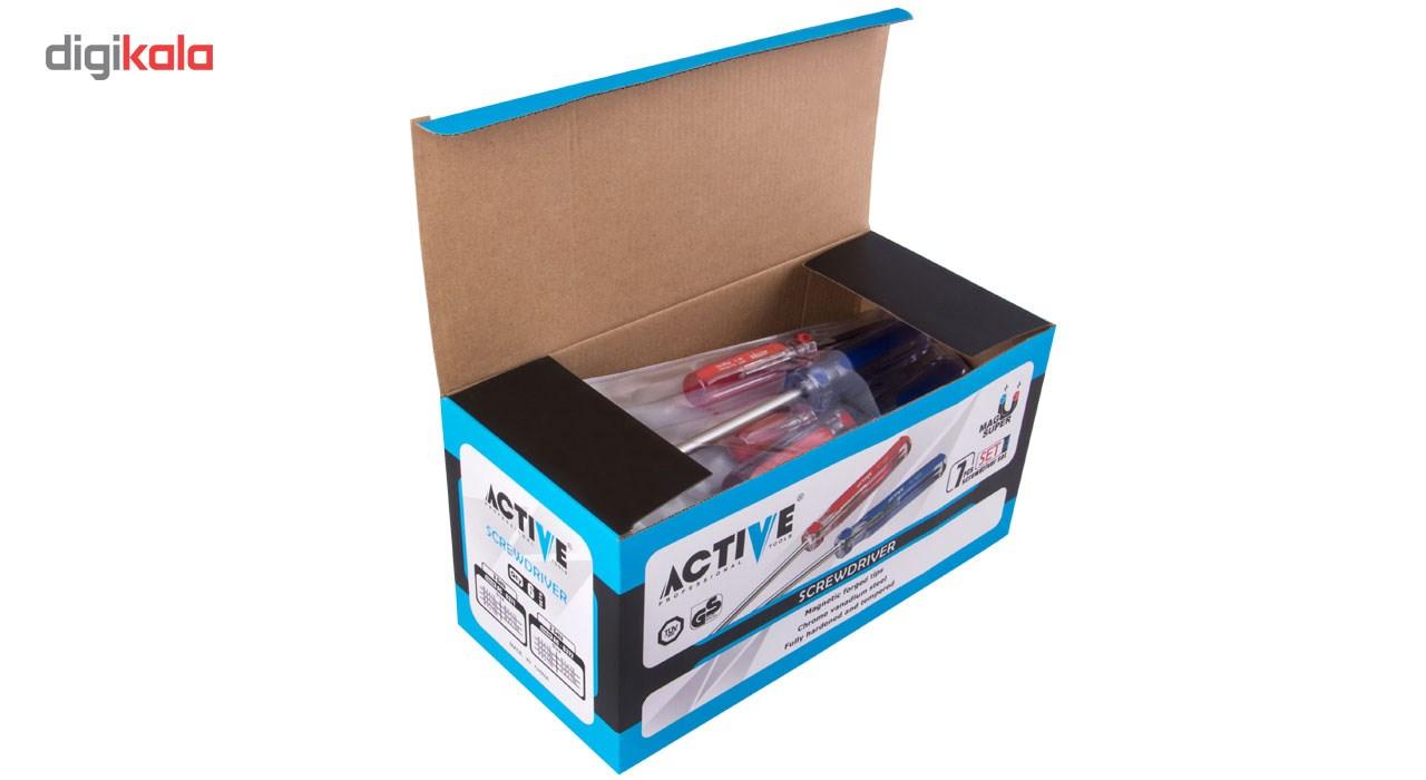 مجموعه 7 عددی پیچ گوشتی اکتیو مدل AC6371 main 1 7