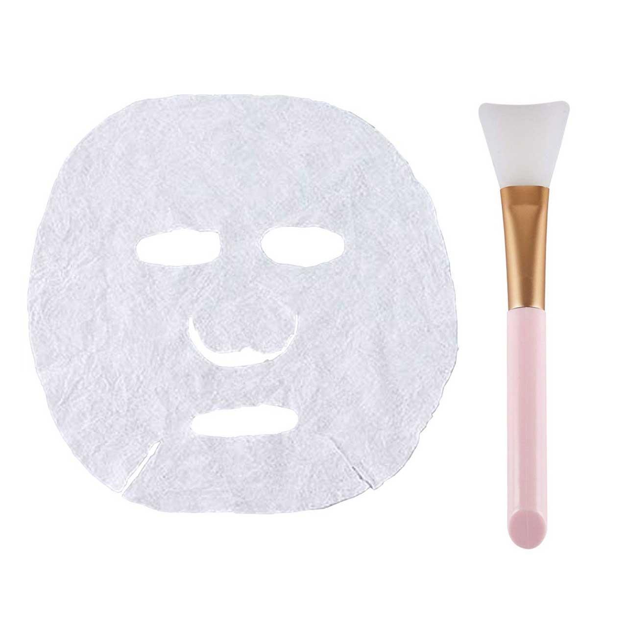 قرص ماسک ورقه ای صورت کد 001 بسته 10 عددی به همراه قلم ماسک مدل badonya2