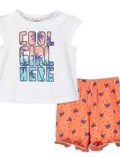 ست تی شرت و شلوارک دخترانه ال سی وایکیکی مدل 9SO753Z1 -  - 1