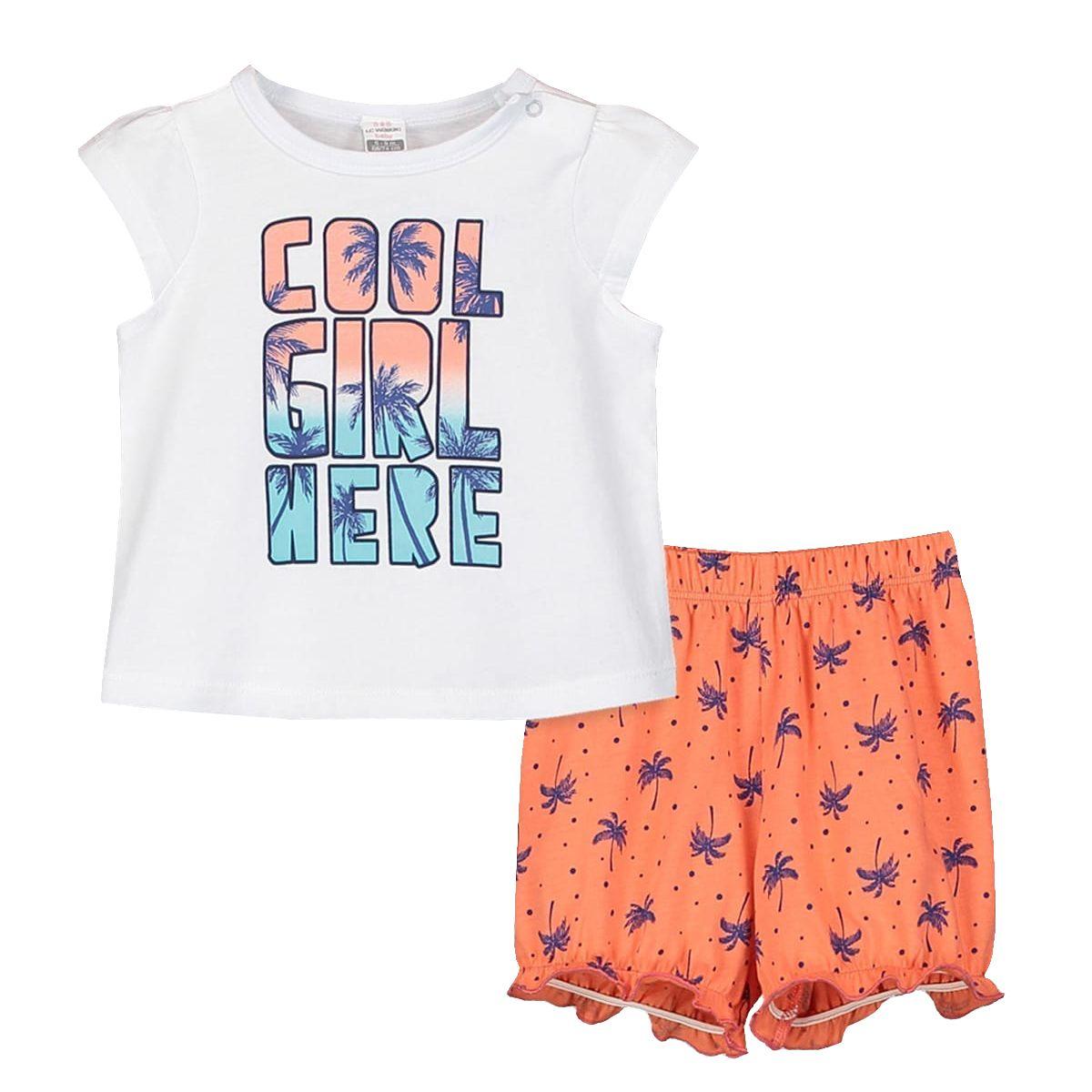 ست تی شرت و شلوارک دخترانه ال سی وایکیکی مدل 9SO753Z1 -  - 2
