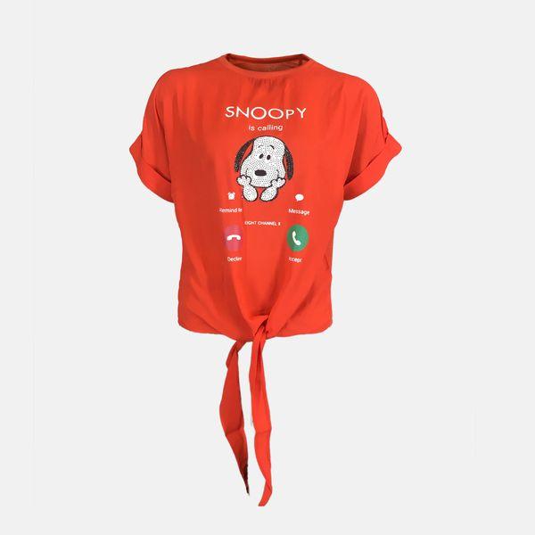 تی شرت آستین کوتاه زنانه مدل e622Or
