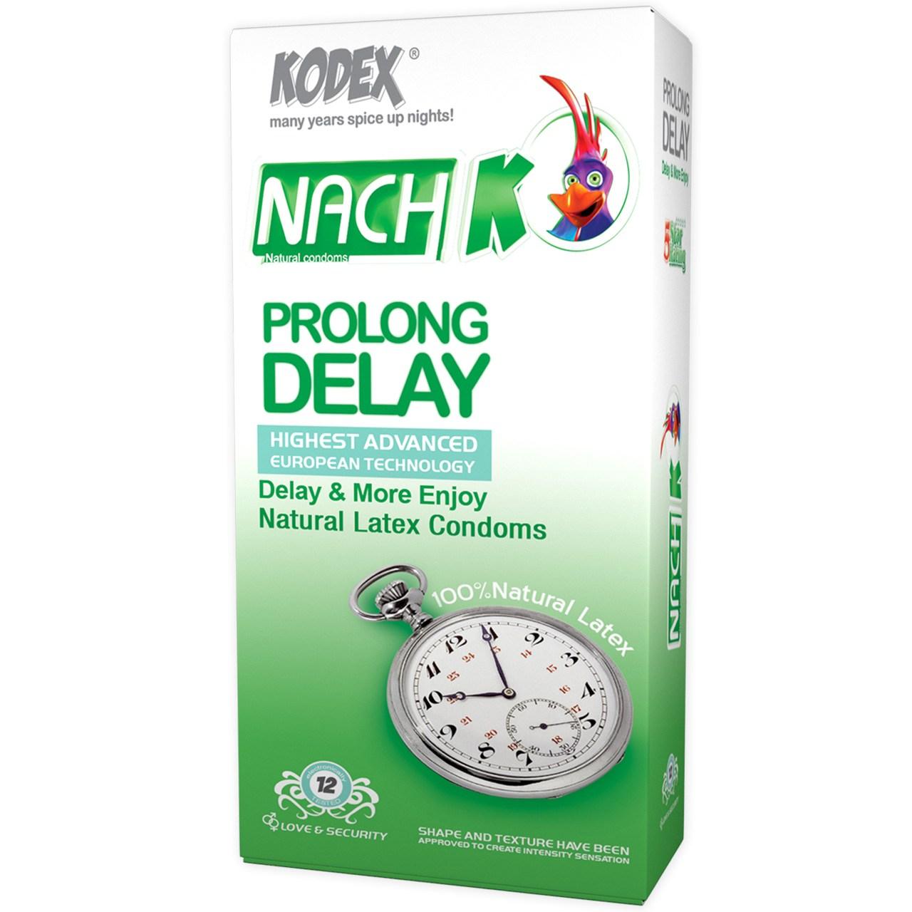 قیمت کاندوم کدکس مدل Prolong Delay بسته 12 عددی