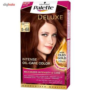 کیت رنگ مو پلت سری Deluxe مدل Medium Chestunut Brown شماره 68-5