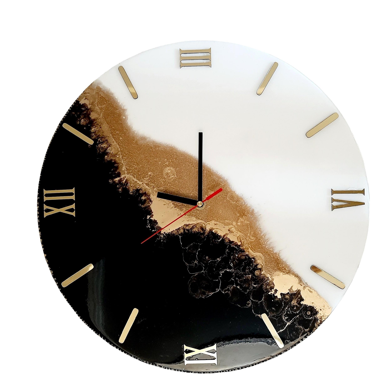 ساعت دیواری رزین طرح شب و روز کد SD_260