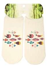 جوراب دخترانه طرح ماهی کد SCb54 -  - 2