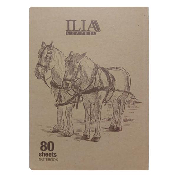 دفتر نقاشی 80 برگ ایلیا گرافیک کد 802n