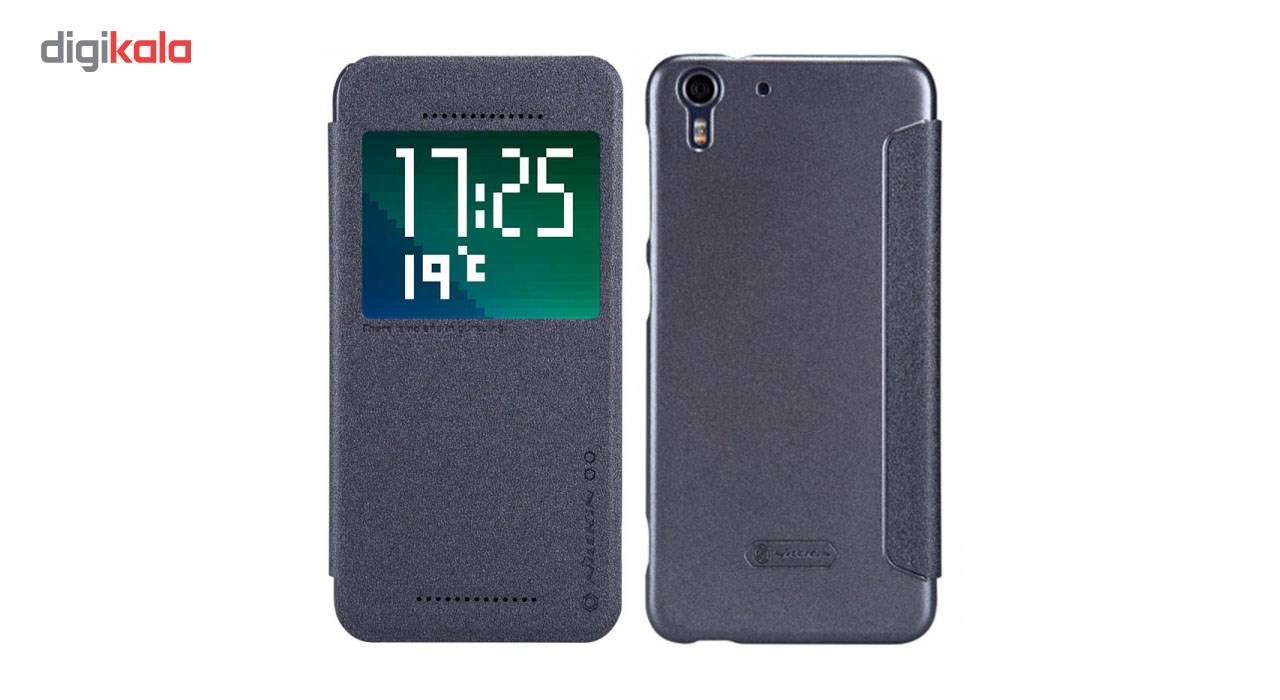 کیف کلاسوری نیلکین مدل New Leather Sparkle مناسب برای گوشی موبایل HTC Desire Eye main 1 2