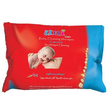 دستمال مرطوب یونی بب تمیز کننده و ضد التهاب مخصوص کودک - بسته 63 عددی