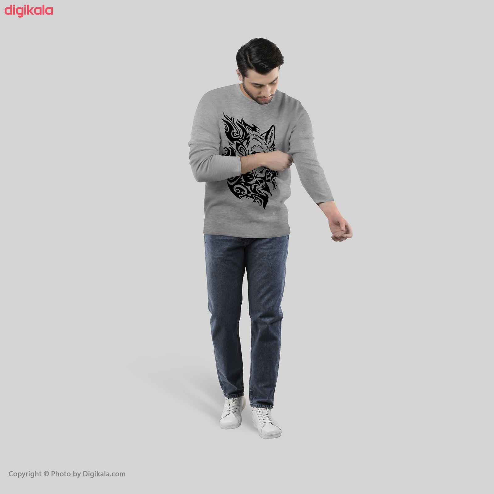 تی شرت آستین بلند مردانه طرح wolf مدل S302 main 1 2