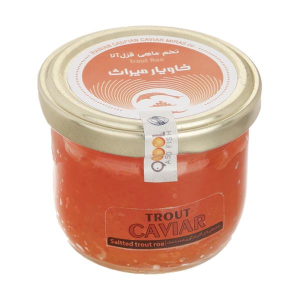 تخم ماهی قزل آلا میراث خاویار کاسپین ایرانیان - 100 گرم