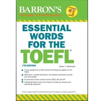 کتاب Barrons Essential Words for The Toefl 7th اثر Steven J. Matthiesen انتشارات هدف نوین