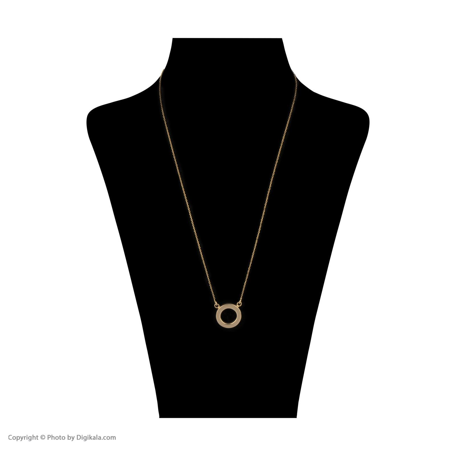 گردنبند طلا 18 عیار زنانه سنجاق مدل X052323 -  - 3