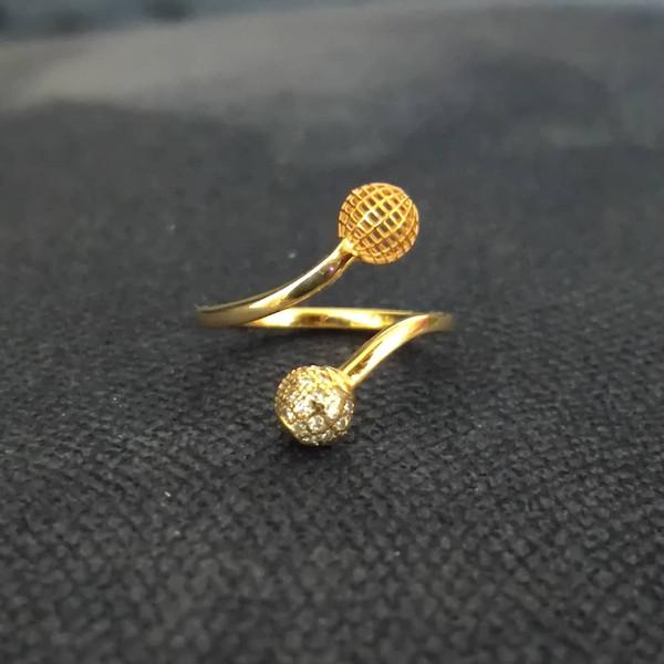 انگشتر طلا 18 عیار زنانه قیراط مدل GH47