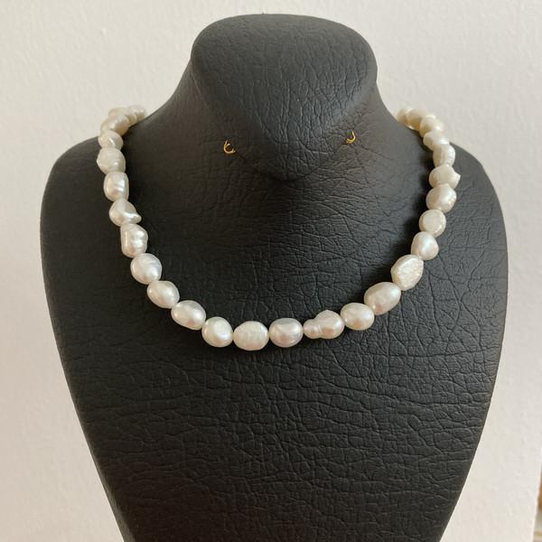 گردنبند طلا 18 عیار زنانه الماسین آذر مدل Baroqsefid05