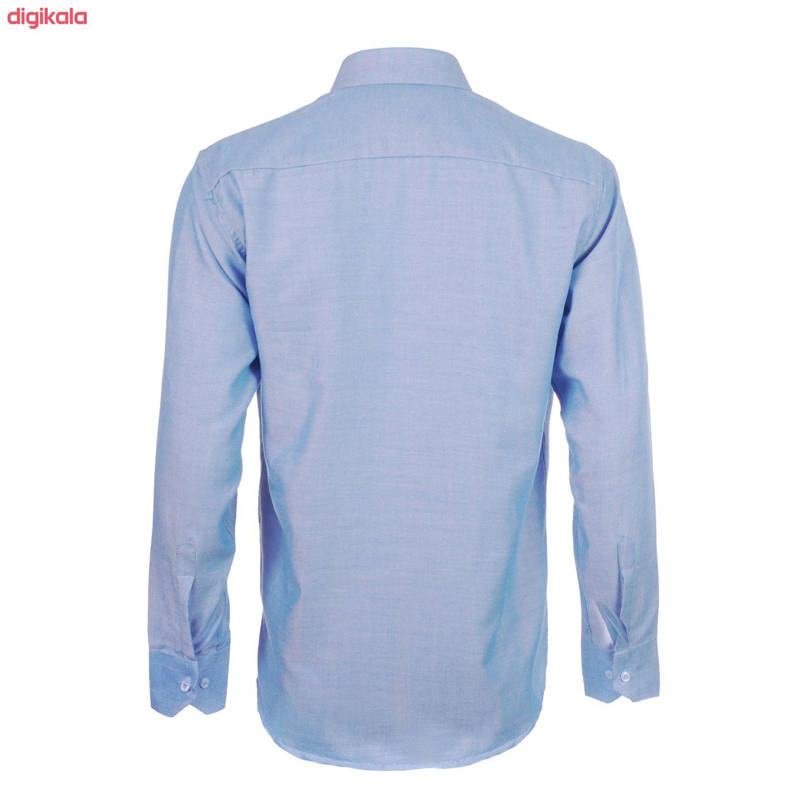 پیراهن آستین بلند مردانه ناوالس مدل Pk3-8020-BL main 1 1
