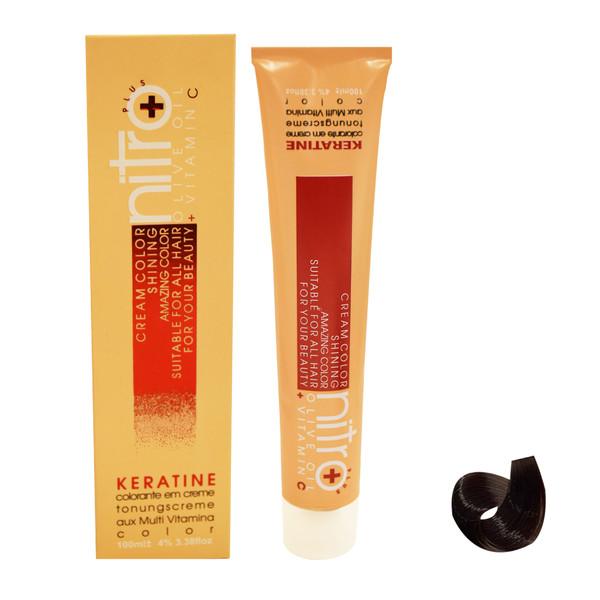 رنگ مو نیترو سری Keratine شماره 6.3 حجم 100 میلی لیتر رنگ قهوه ای زیتونی روشن