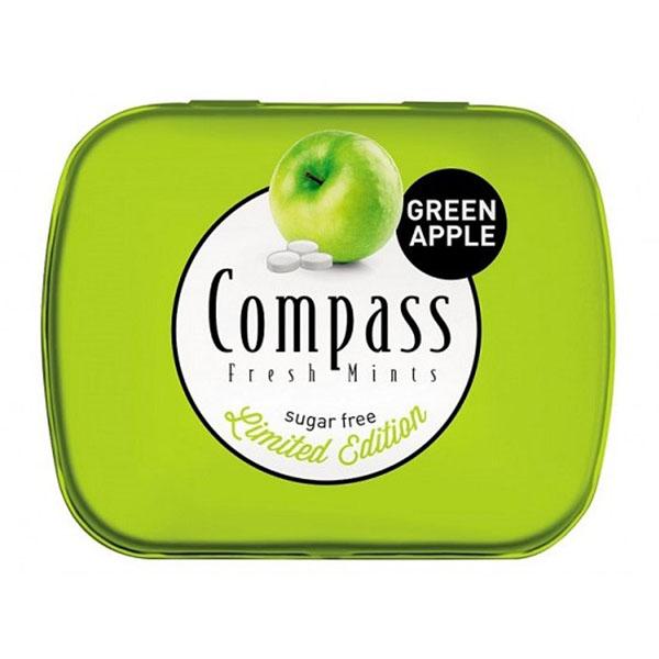 خوشبو کننده دهان کامپس با طعم سیب سبز بسته 50 عددی