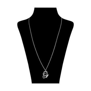 گردنبند نقره زنانه طرح پروانه کد DG003