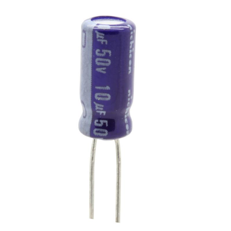 خازن الکترولیت 10 میکروفاراد کد 50V بسته 4 عددی
