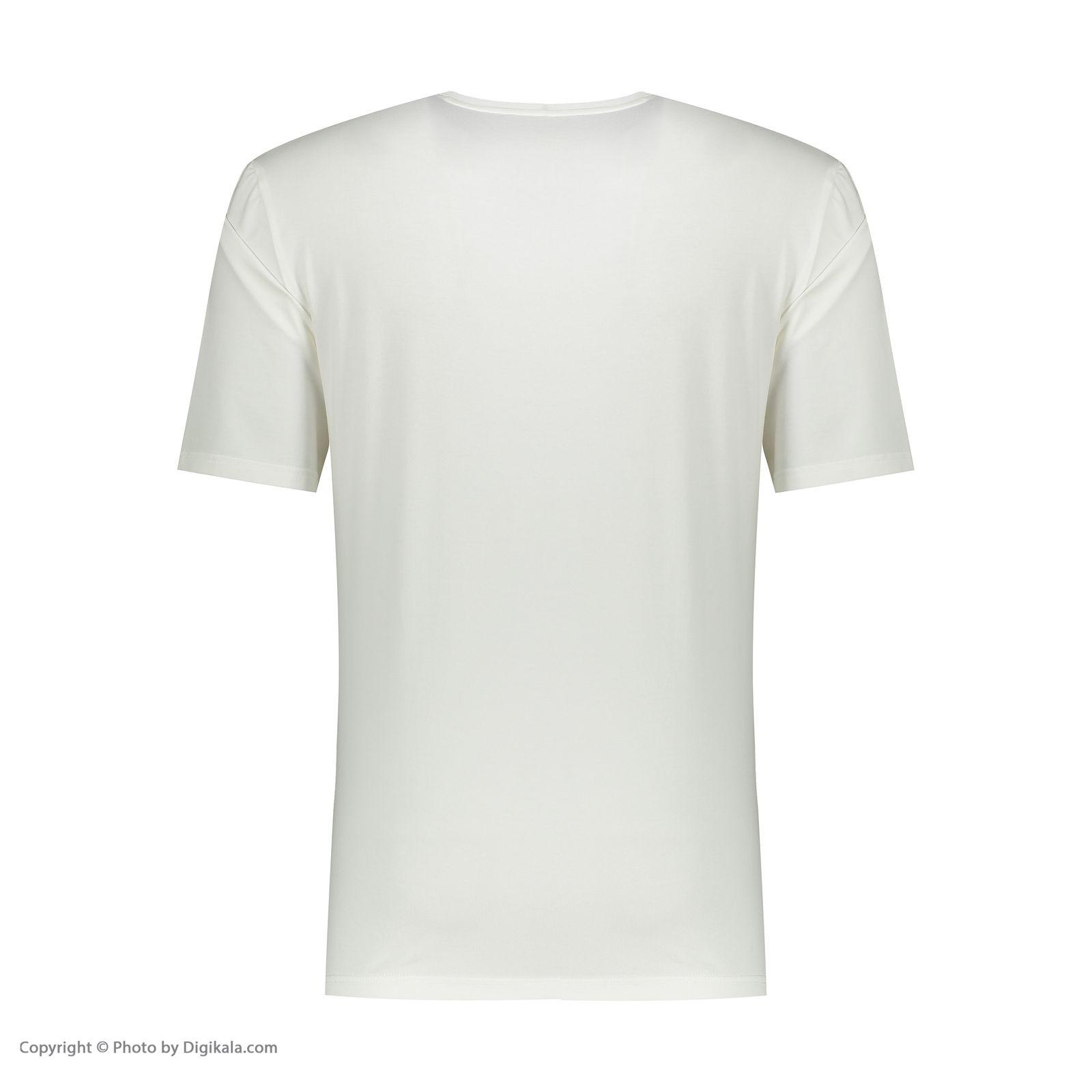 تی شرت مردانه پاتن جامه کد 99M5224 رنگ سفید -  - 3