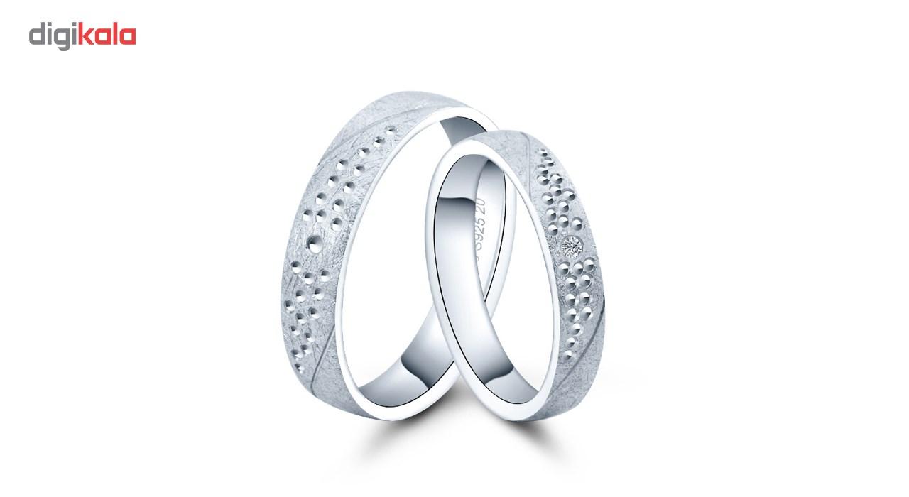ست انگشتر نقره زنانه و مردانه