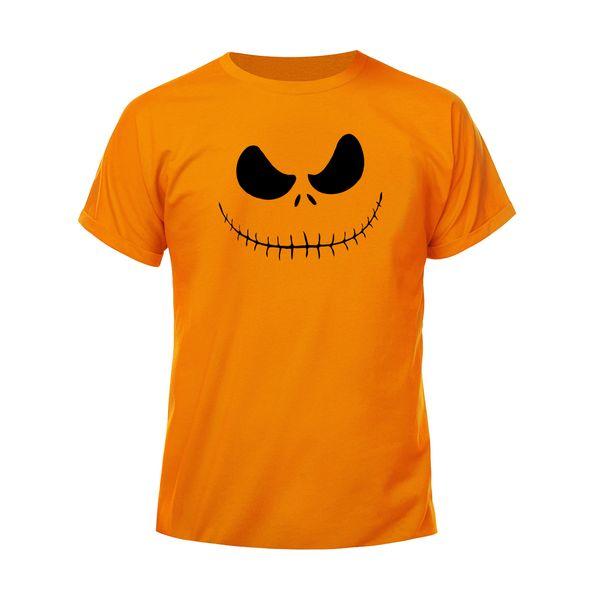 تی شرت زنانه مدل هالووین کد H63 رنگ نارنجی