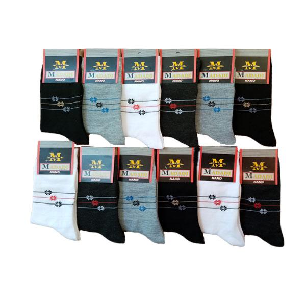 جوراب   مردانه    مددی    کد   WAAAA مجموعه 12 عددی
