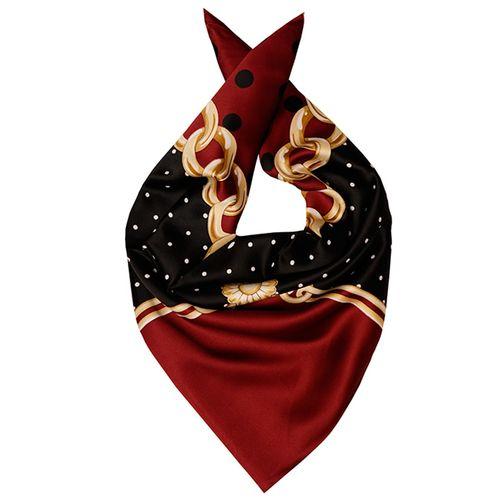 روسری ابریشم مدل Gold Chains