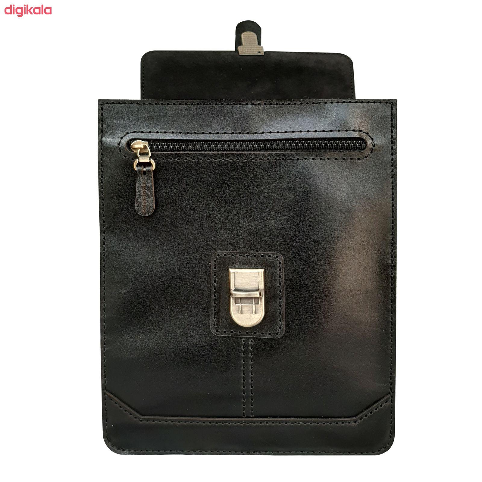 کیف دوشی مردانه چرم روژه مدل ES01B main 1 3
