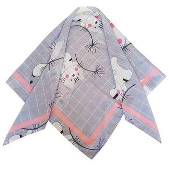 روسری دخترانه مدل گربه و قاصدک کد san924