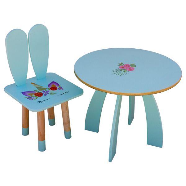ست میز و صندلی کودک مدل یونیکورن