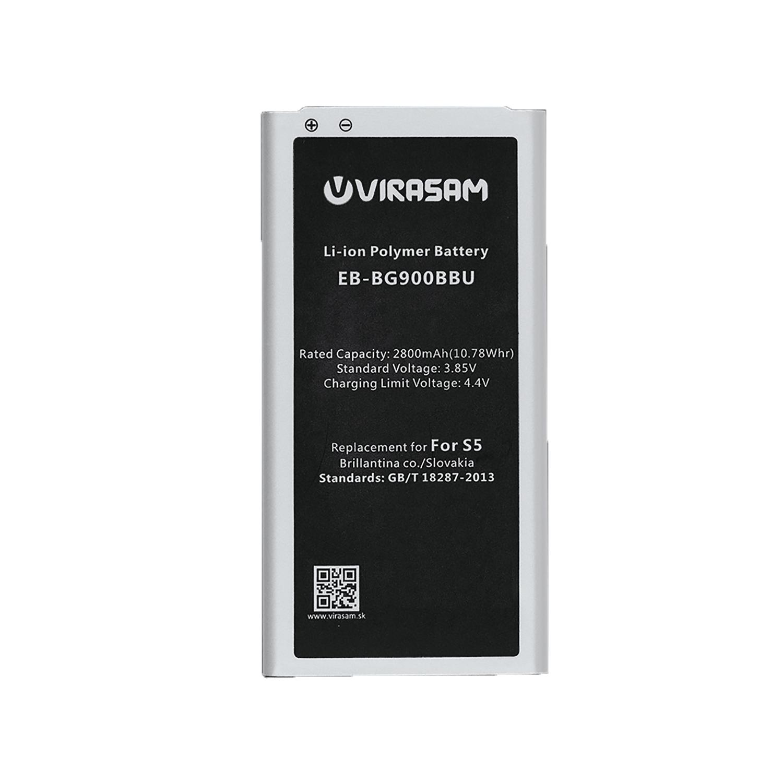 باتری موبایل ویراسام مدل S5 با ظرفیت ۲۸۰۰ میلی آمپر ساعت مناسب برای گوشی موبایل سامسونگ مدل Galaxy S5