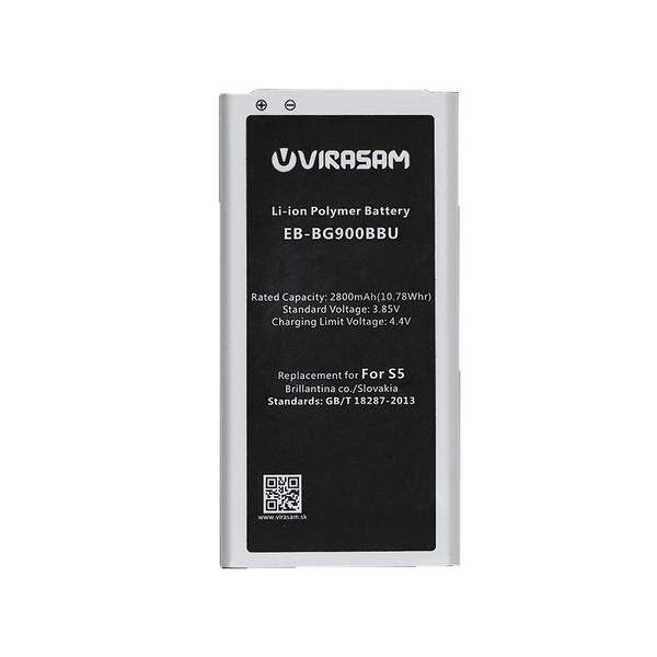 باتری موبایل ویراسام مدل S5  ظرفیت ۲۸۰۰ میلی آمپر ساعت مناسب برای گوشی موبایل سامسونگ  Galaxy S5