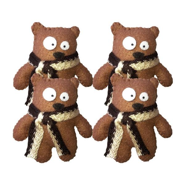 عروسک نمدی کابوک مدل خرس کوچولو بسته 4 عددی