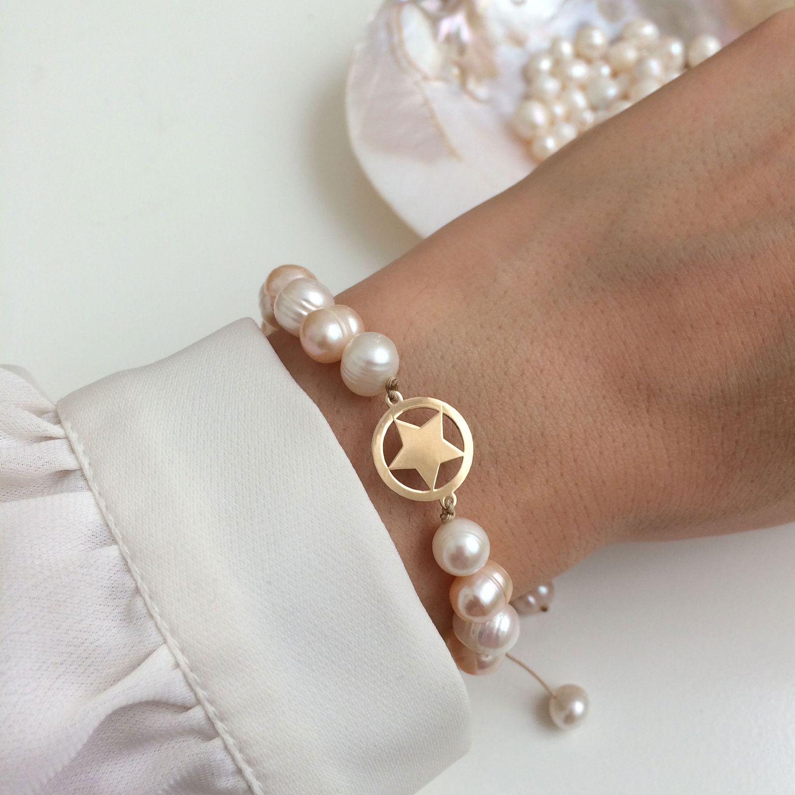 دستبند طلا 18 عیار زنانه الماسین آذر کد SETARE01 -  - 3