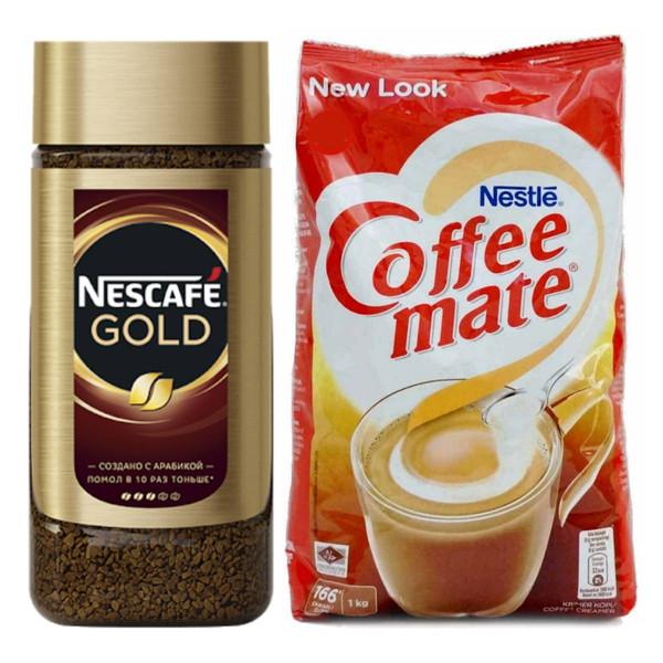قهوه فوری گلد نسکافه - ۱۹۰ گرم به همراه کافیمیت نستله - ۱ کیلوگرم