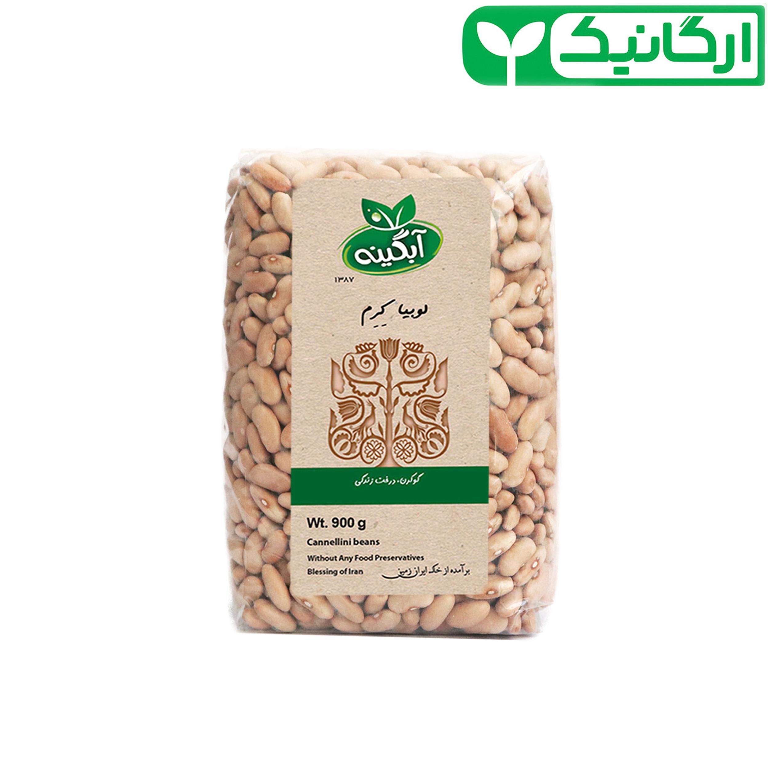 لوبیا کشاورزی ارگانیک آبگینه - 900 گرم