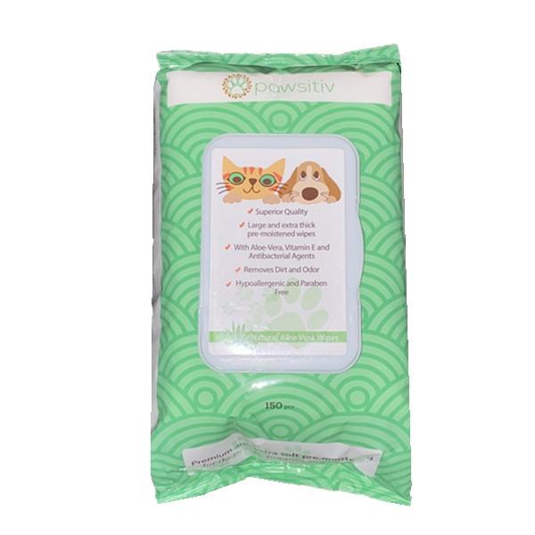 دستمال مرطوب مخصوص حیوانات خانگی کد 150 بسته 150 عددی