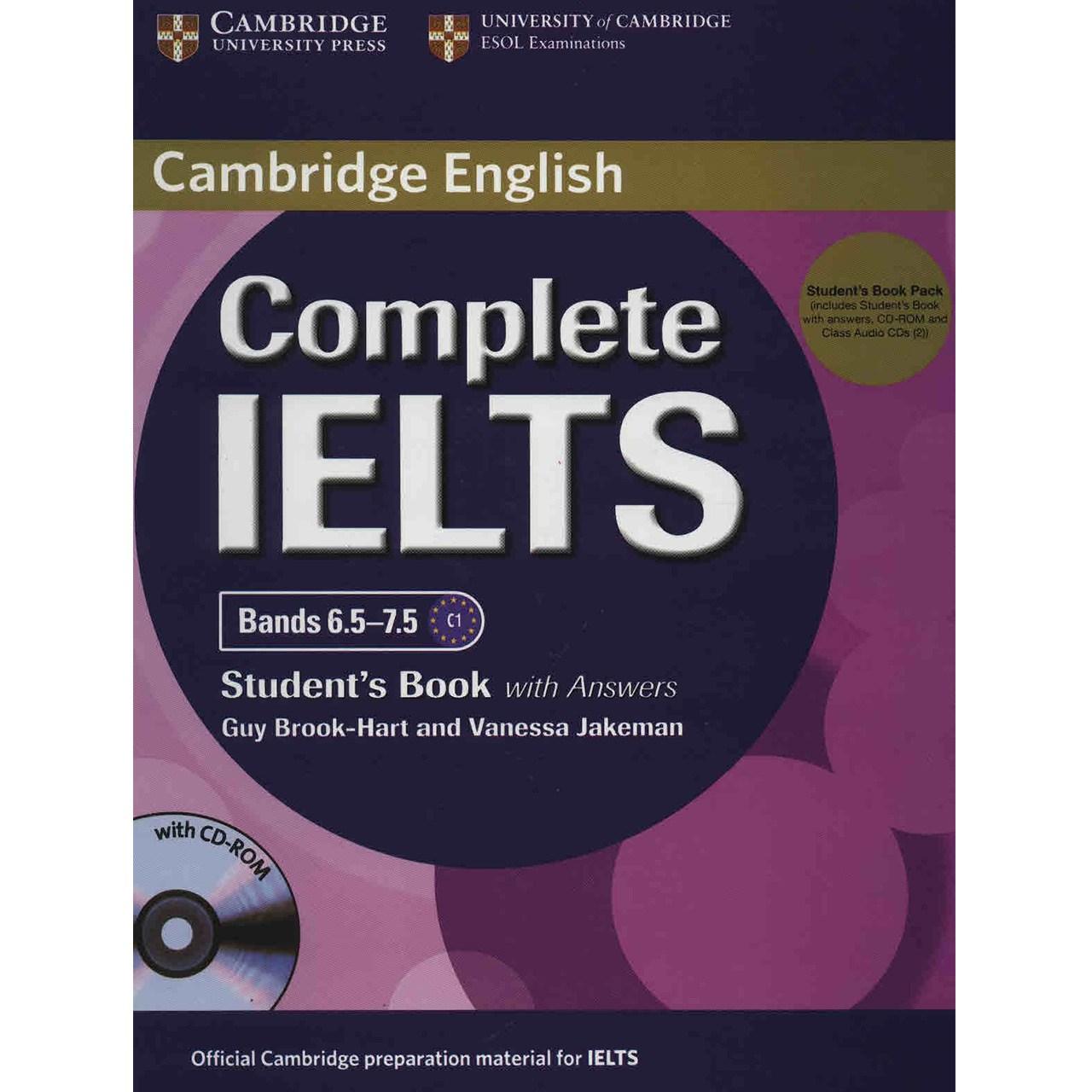 کتاب زبان Complete IELTS Bands 6.5 -7.5 Students Book and Workbook اثر گای بروک هارت - دو جلدی