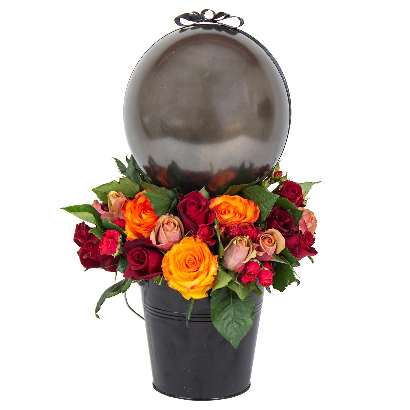 سبد گل طبیعی مدل آپامه
