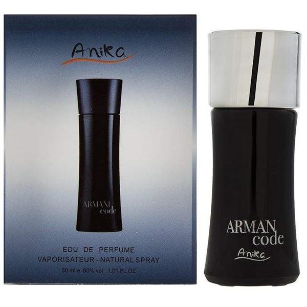 ادو پرفیوم مردانه آنیکا مدل armani code حجم 30 میلی لیتر