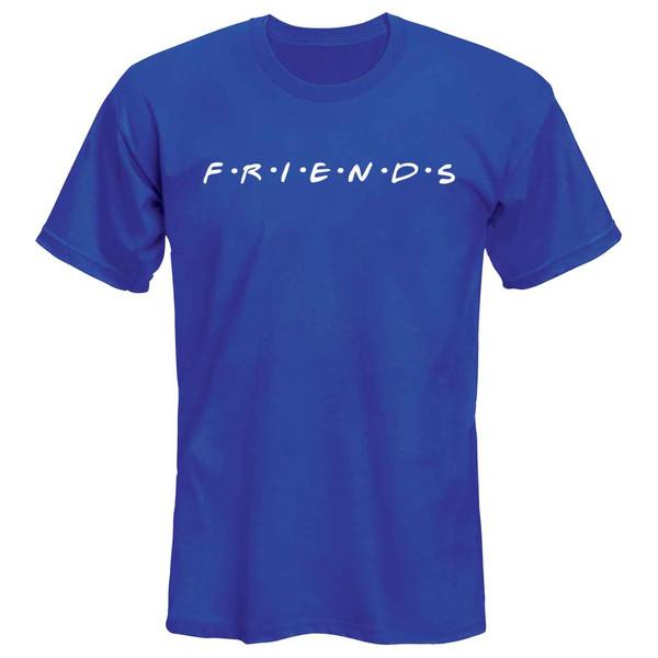 تیشرت مردانه  طرح friends کد 36160 رنگ آبی