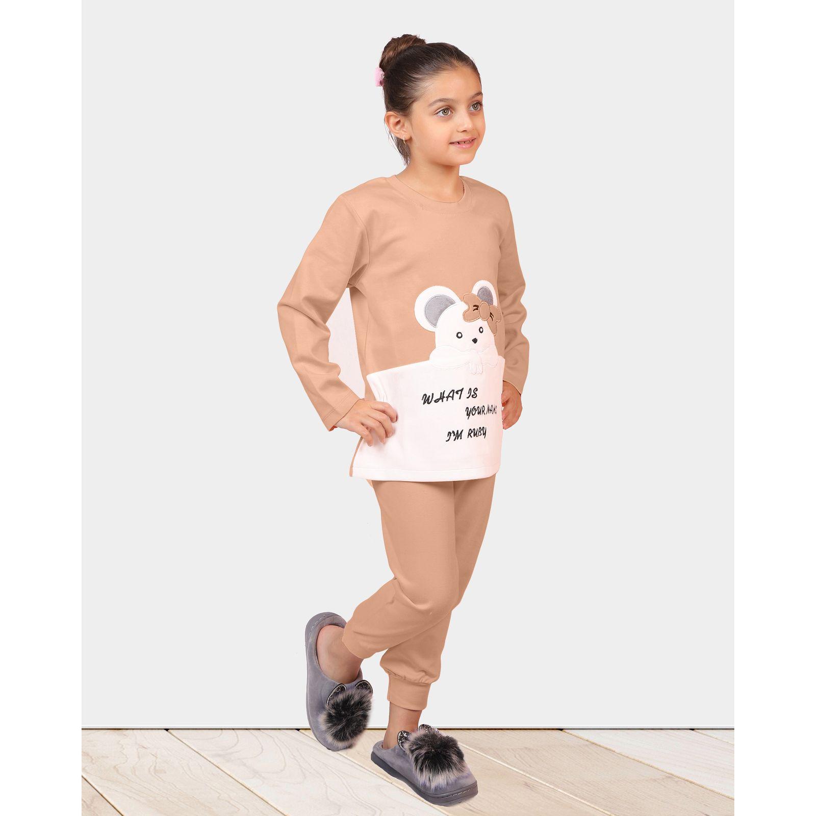 ست تی شرت و شلوار دخترانه مادر مدل 301-80 main 1 9
