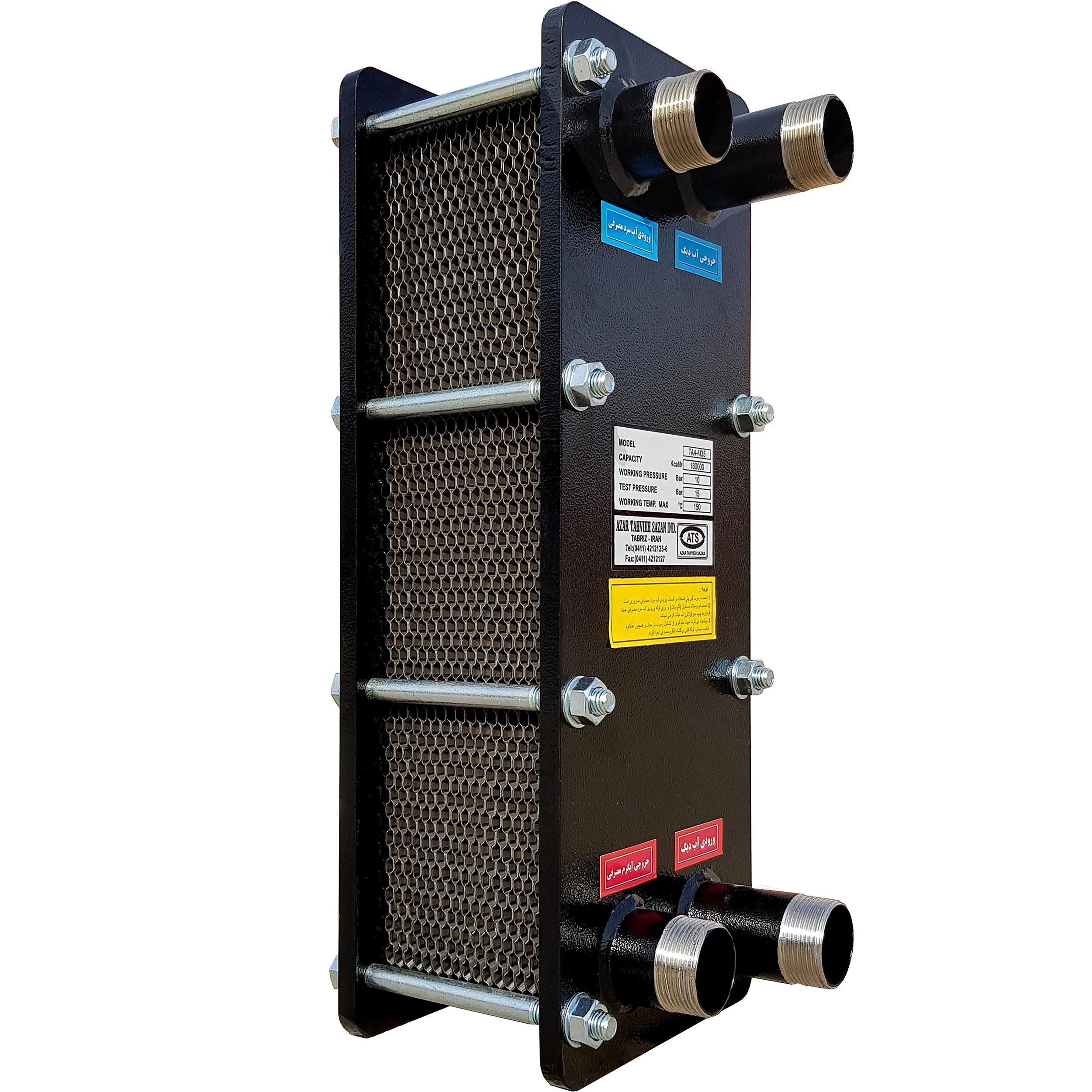 مبدل حرارتی صفحه ای آذرتهویه سازان مدل TA4-M35