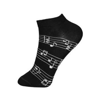 جوراب زنانه پاتوک پاتوک طرح نوت موسیقی کد BL-PT 157