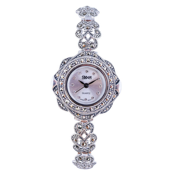 ساعت مچی عقربه ای نقره زنانه سما مدل SM_111